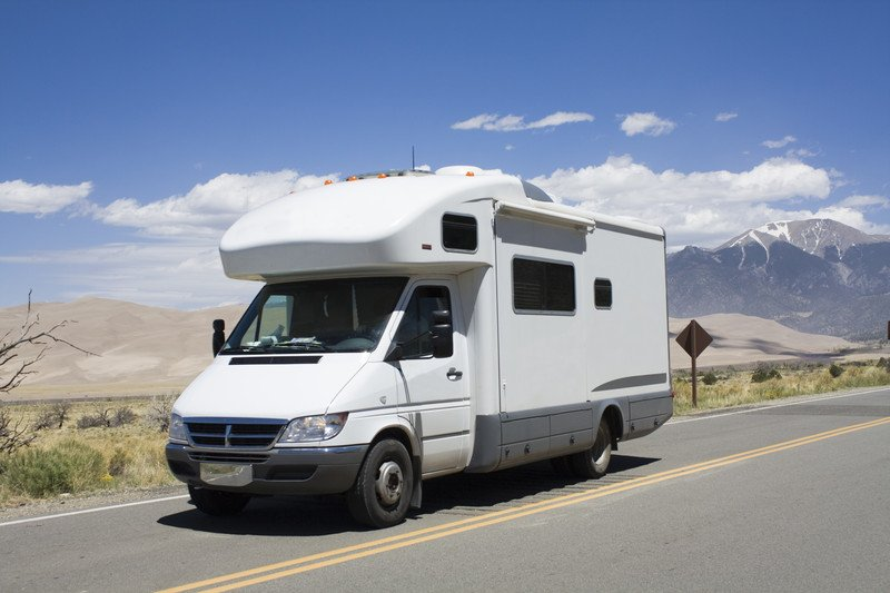 RV Motorhome driving on freeway Southeast Financial
